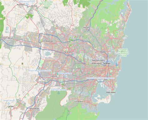 map of sydney australia sydney harbour bridge
