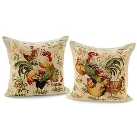 large home decor accents rooster and hen pillows large pillows home decor