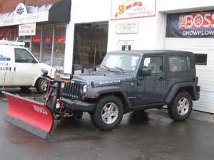 Plowing With A Jeep Snow Plowing