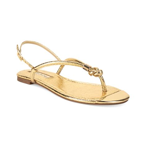 womens gold sandals inc international concepts womens moirah flat