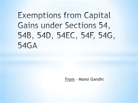 section 54 of income tax act different sections of income tax india section h of
