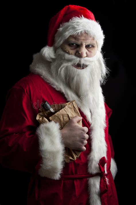 merry scary christmas stock image image  claus ugly