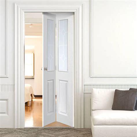 Doors Bifold Interior Jbk Interior Folding Doors Canterbury Bi Fold With Etched Glass
