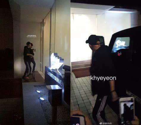 model rambut exo beredar foto chanyeol exo masuki gedung sm dengan gaya
