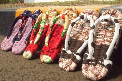 Sandal Kreasi 6 sandal jepit cantik dengan kain perca