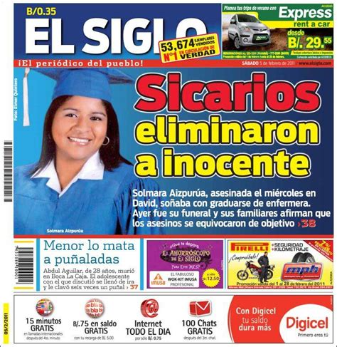 el siglo newspaper el siglo panama front pages from newspapers in panama saturday s edition february