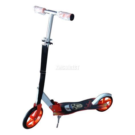 kids scooter with big wheels ebay