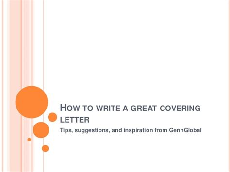 how to write a great covering letter gennglobal