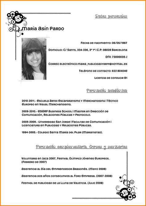 curriculum vitae pdf 8 curriculum ejemplo pdf addressing letter