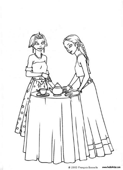 Tea party coloring pages to download and print for free