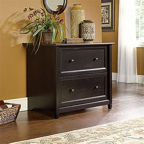 black wood lateral file cabinet sauder edge water estate black file cabinet 409044 the