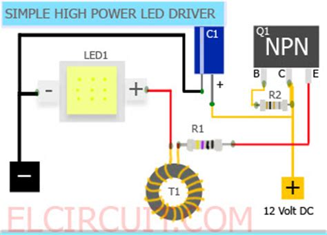 single transistor led driver simple 10w high power led driver circuit led circuit power led arduino and tech