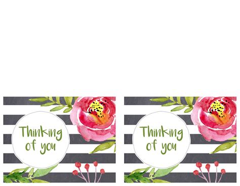card template thinking of you free printable greeting cards thank you thinking of you
