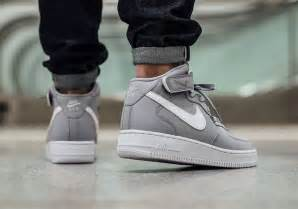 Nike air force 1 mid wolf grey sneaker bar detroit
