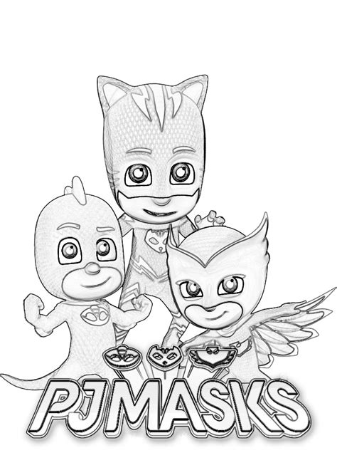 printable coloring pages pj masks pj masks coloring pages coloring home