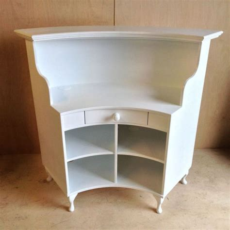curved salon reception desk french style shabby chic
