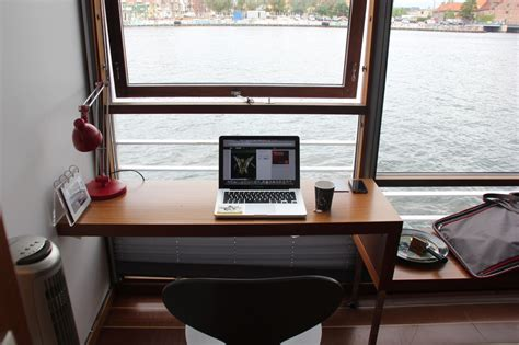 minimal desk minimal desks window set desk with views over the water