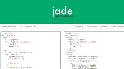 jade template bosan koding html cobalah html template engine the power