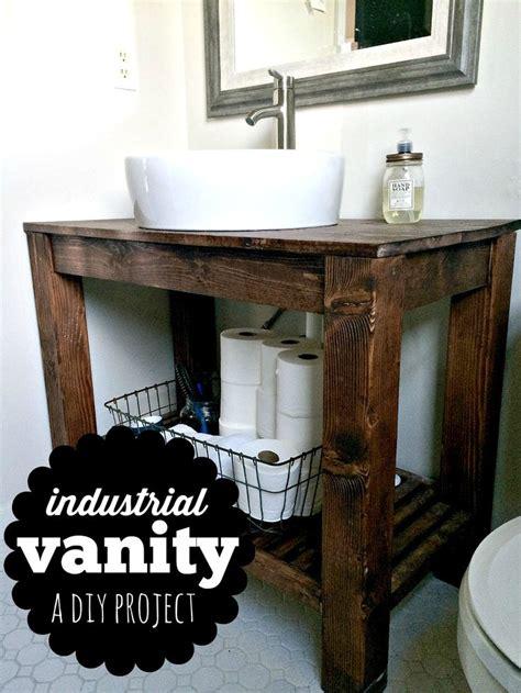 diy industrial farmhouse bathroom vanity industrial farmhouse industrial   house