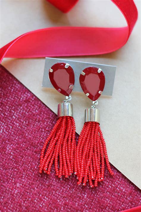 how to make tassels for jewelry diy beaded tassel earrings homemadebanana