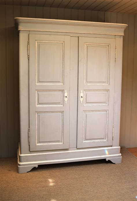large antique continental painted wardrobe