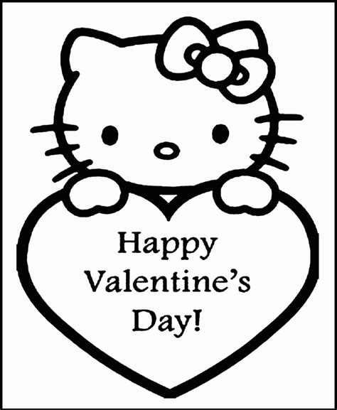 valentines coloring pages pdf hello kitty happy valentines az coloring pages