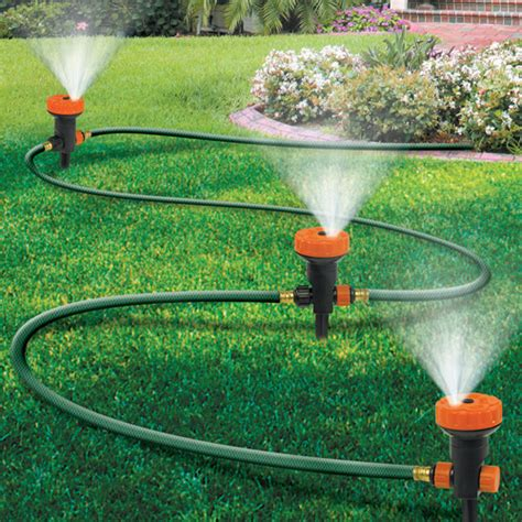 backyard sprinkler system portable sprinkler system for garden lawn yard vegetables plants model 1526