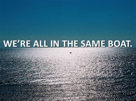 on the same boat international brainstorming we are all in the same boat