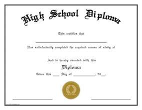 High School Diploma Template Free by High School Diploma Free Printable Allfreeprintable