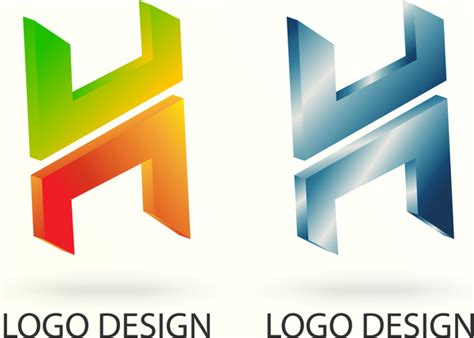 design vector logo illustrator h 3d vector logo design free vector in adobe illustrator