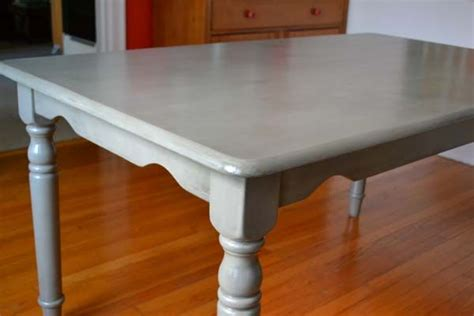 Gray Kitchen Table by Refinishing Our Quot Plain Quot Dining Table Black Chairs