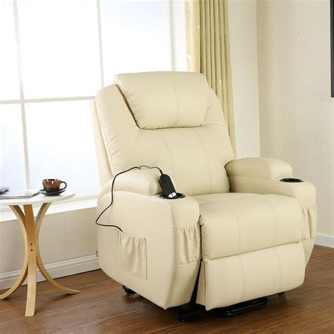 Heated Armchair by Cinemo Elecrtic Rise Recliner Leather Heated