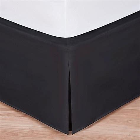 black bed skirt buy wrap around wonderskirt twin bed skirt in black from bed bath beyond