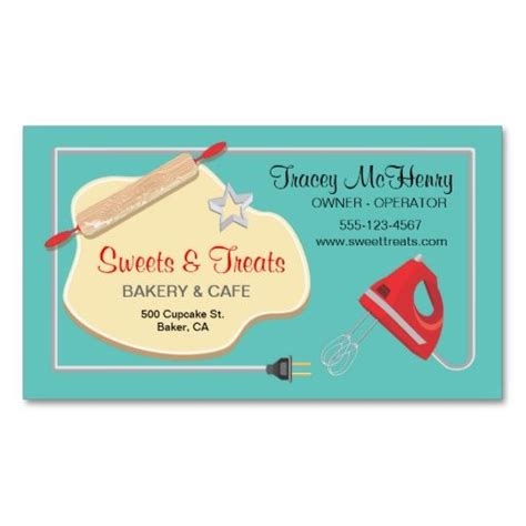 1108 Best Images About Bakery Business Cards On Pinterest Business Card Templates Damasks And Bakery Business Card Template