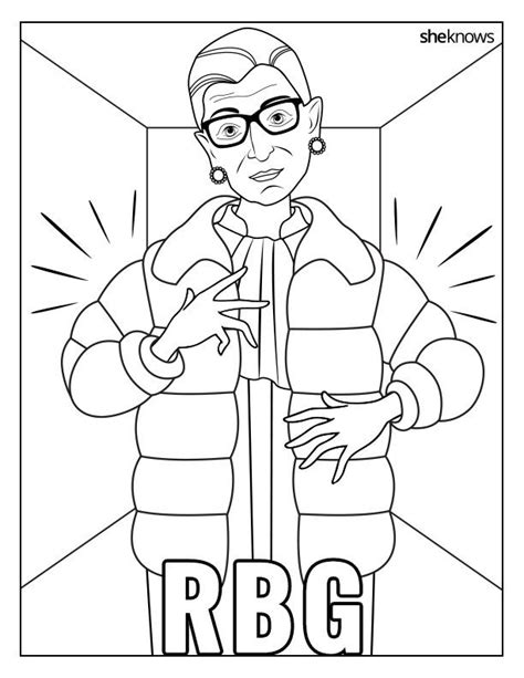 Pdf Ruth Bader Ginsburg Coloring Book by Celebrate The Notorious Rbg S Birthday With This Printable