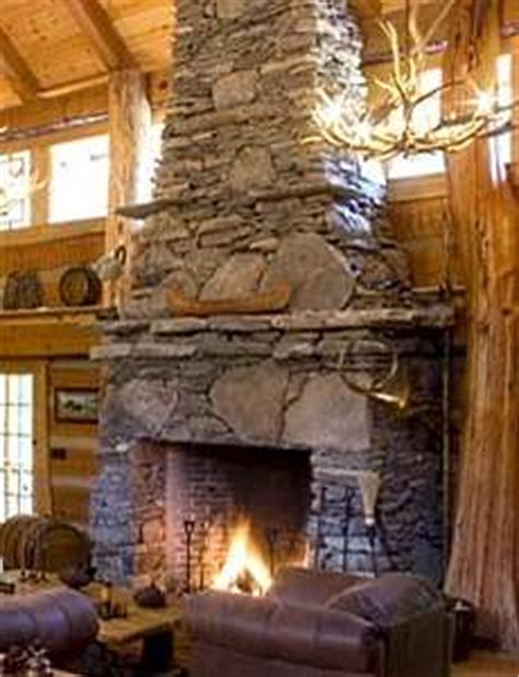 rocky mountain rock fireplaces lodges logs luxury