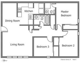 3 Bedroom 3 Bath Floor Plans by Plain 3 Bedroom Apartment Floor Plans On Apartments With