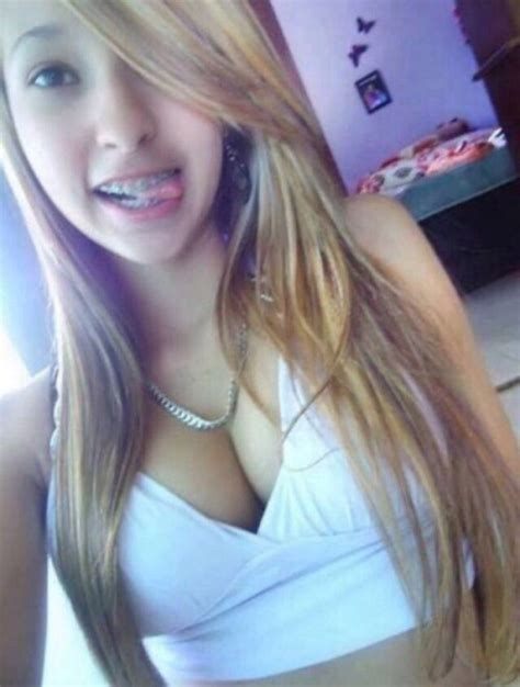 blonde teen tongue pin by sara udw on cleavage pinterest