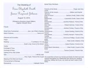 Program Template For Wedding by Wedding Program Template 41 Free Word Pdf Psd