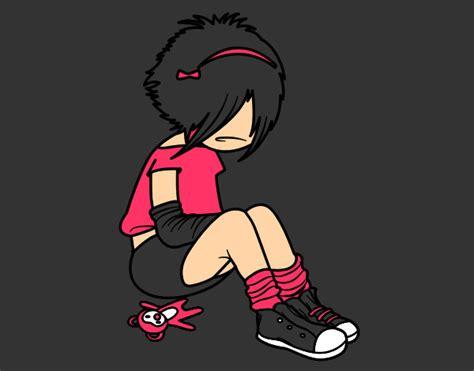 imagenes emo girl emo girl dibujos imagui