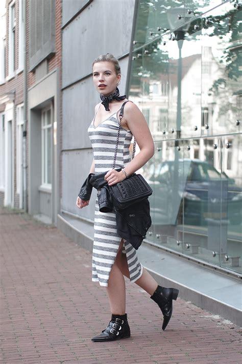 Glr Dress Berska Stripe bershka striped summer dress reiding hoodred reiding