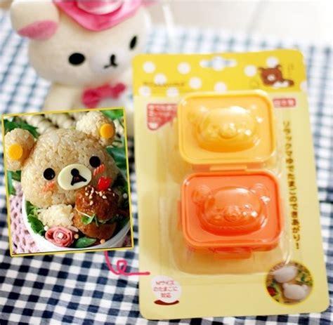 cetakan nasi telur kity bento beruang dan kelinci h promo cetakan bento jual harga grosir barang unik lucu murah