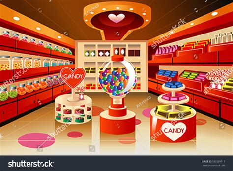 store section vector illustration candy section grocery store stock