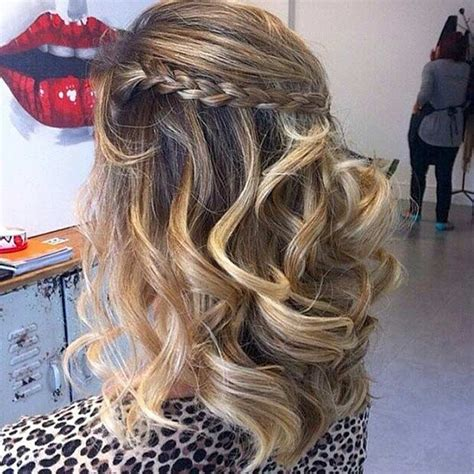 half up half down prom hairstyles with braids 31 half up half down prom hairstyles stayglam