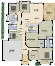 4 Bedroom House Floor Plans australian house plan 4 bedroom study lounge amp media room