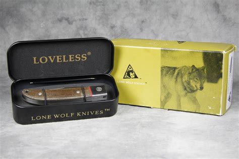 loveless city knife lone wolf lc12200 checkered canvas micarta loveless city knife