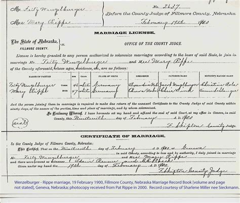 Marriage Records Lincoln Ne Midwest Beyond Genealogical Services