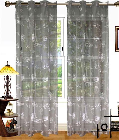 paris print curtains dekor world set of 2 window sheer eyelet curtains buy