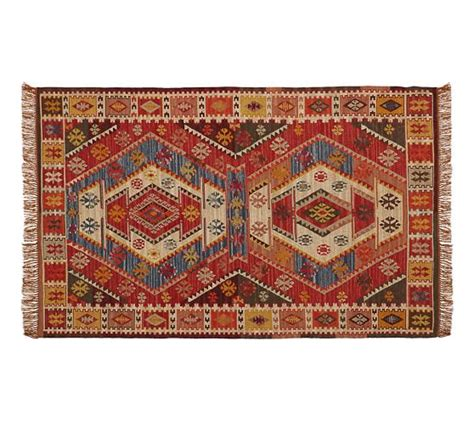 Recycled Outdoor Rugs Recycled Yarn Kilim Indoor Outdoor Rug Pottery Barn