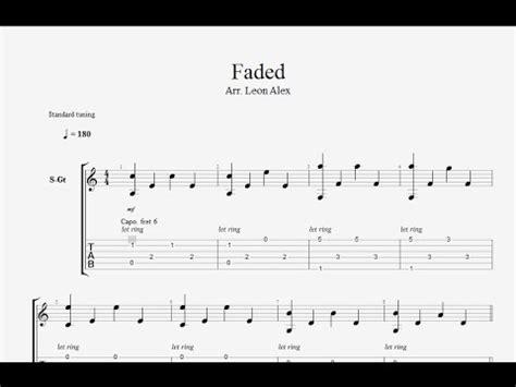 tutorial de fingerstyle free tabs alan walker faded leon alex fingerstyle
